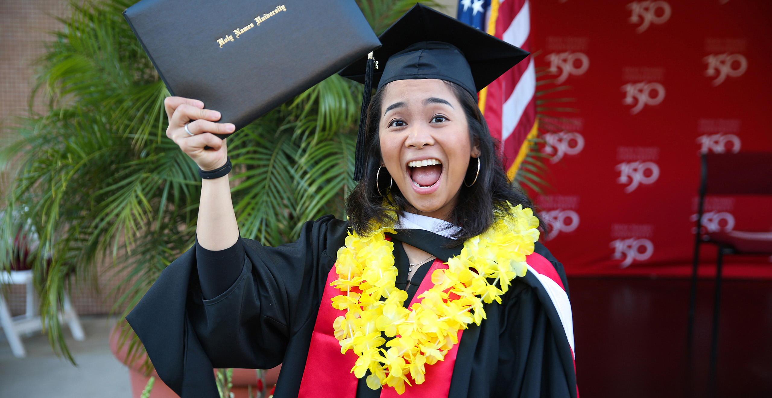Grad with Lei image