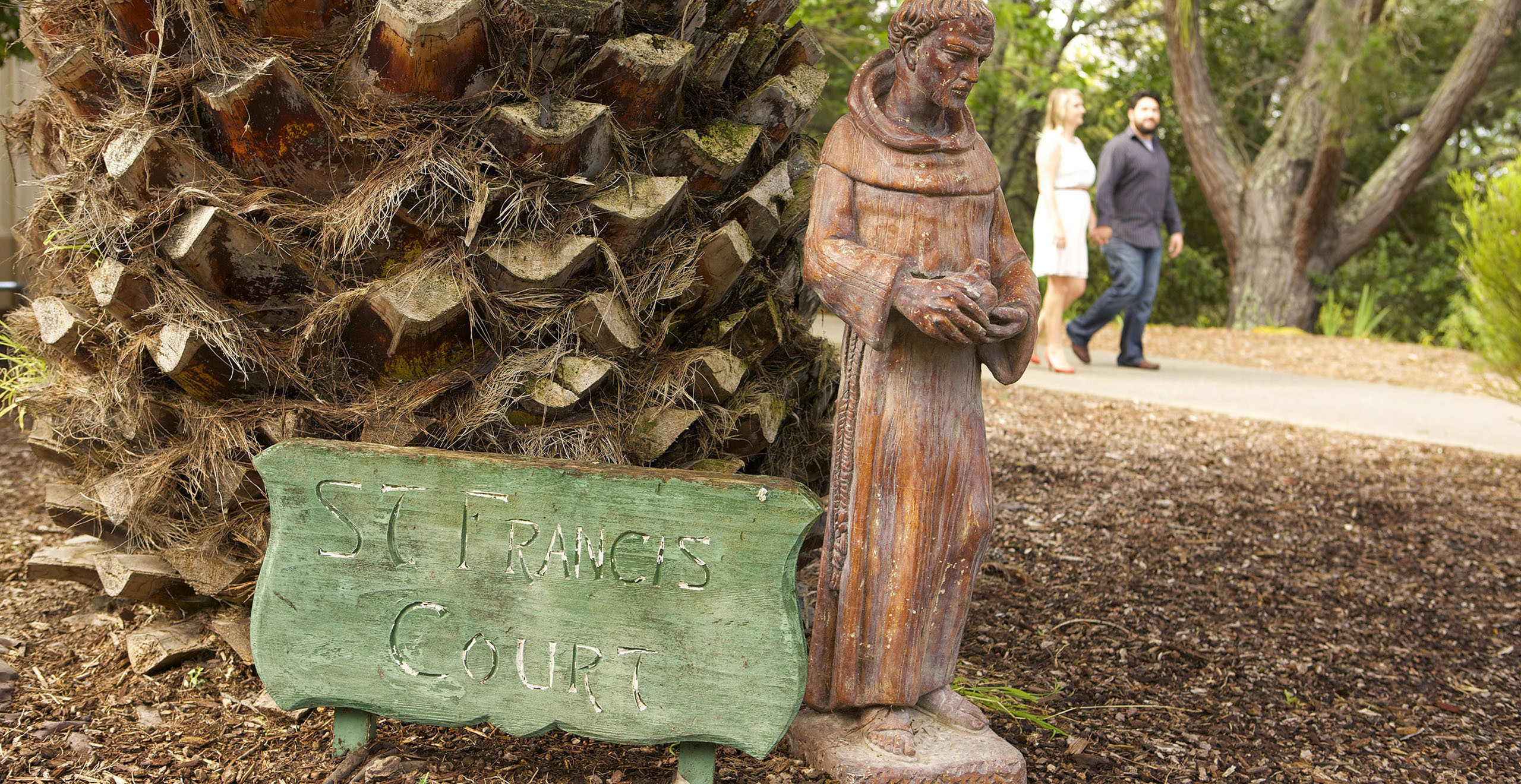 Holy Name University statue for ST Francis Court