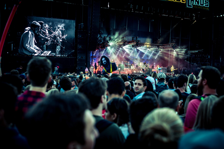 OSL music festival crowd in Oakland, CA