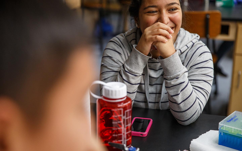 HNU student sitting in class