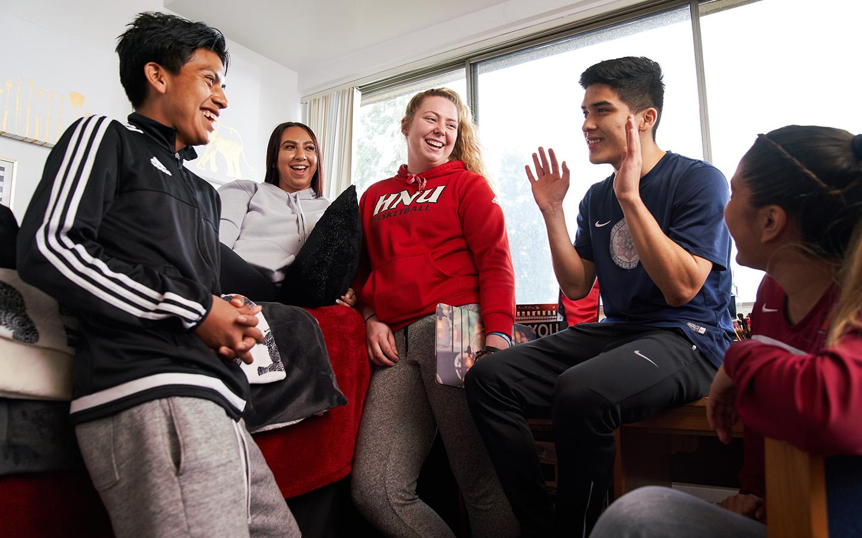 Students socializing
