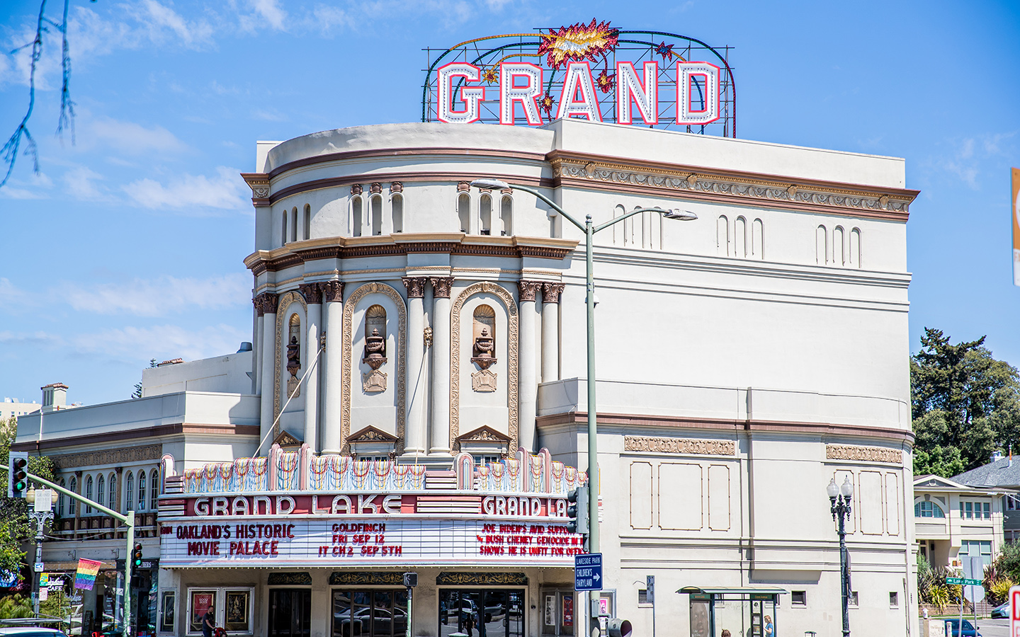 Outside view of the Grand Lake Theatre in Oakland, California