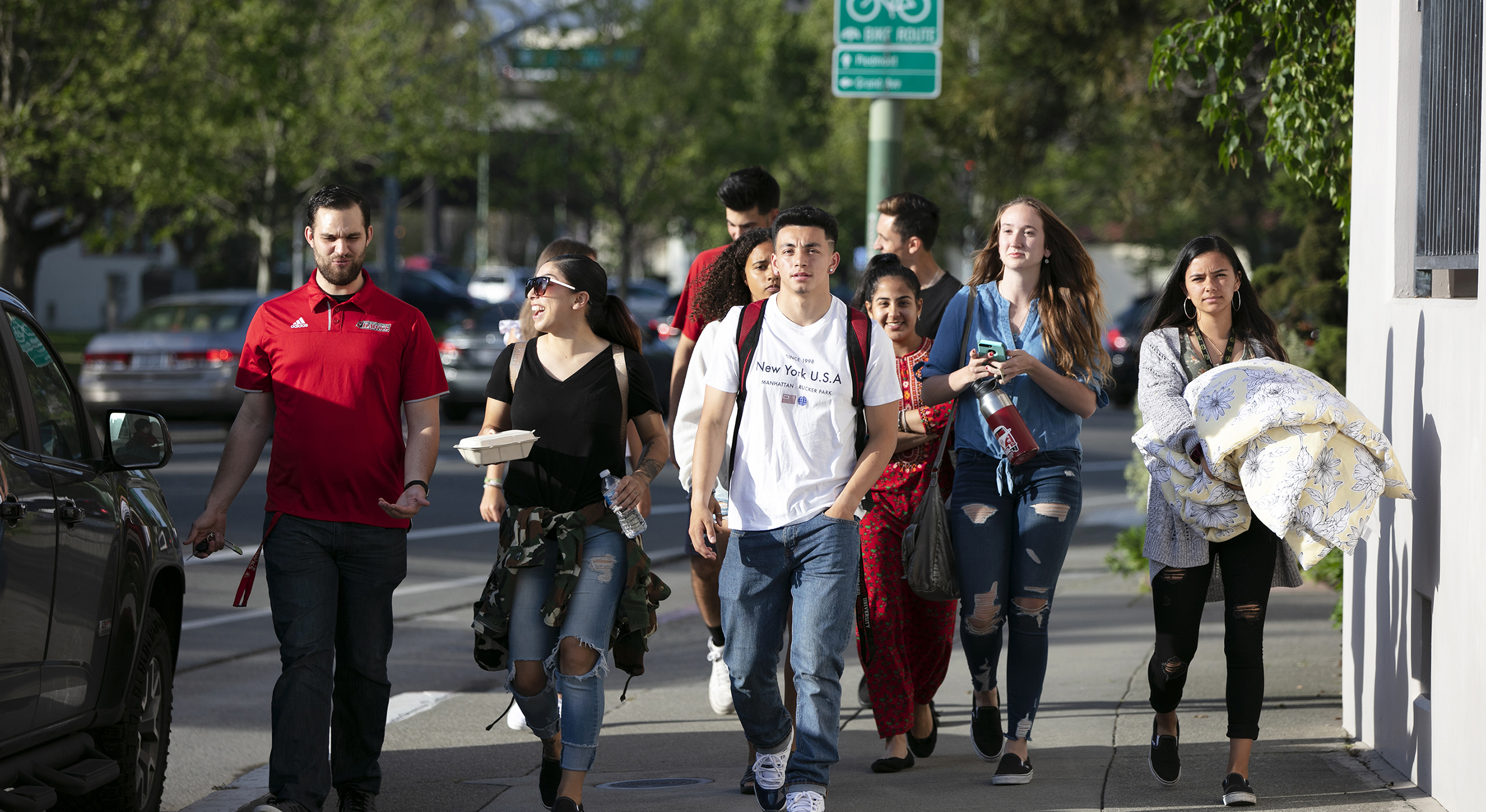 Students in downtown Oakland