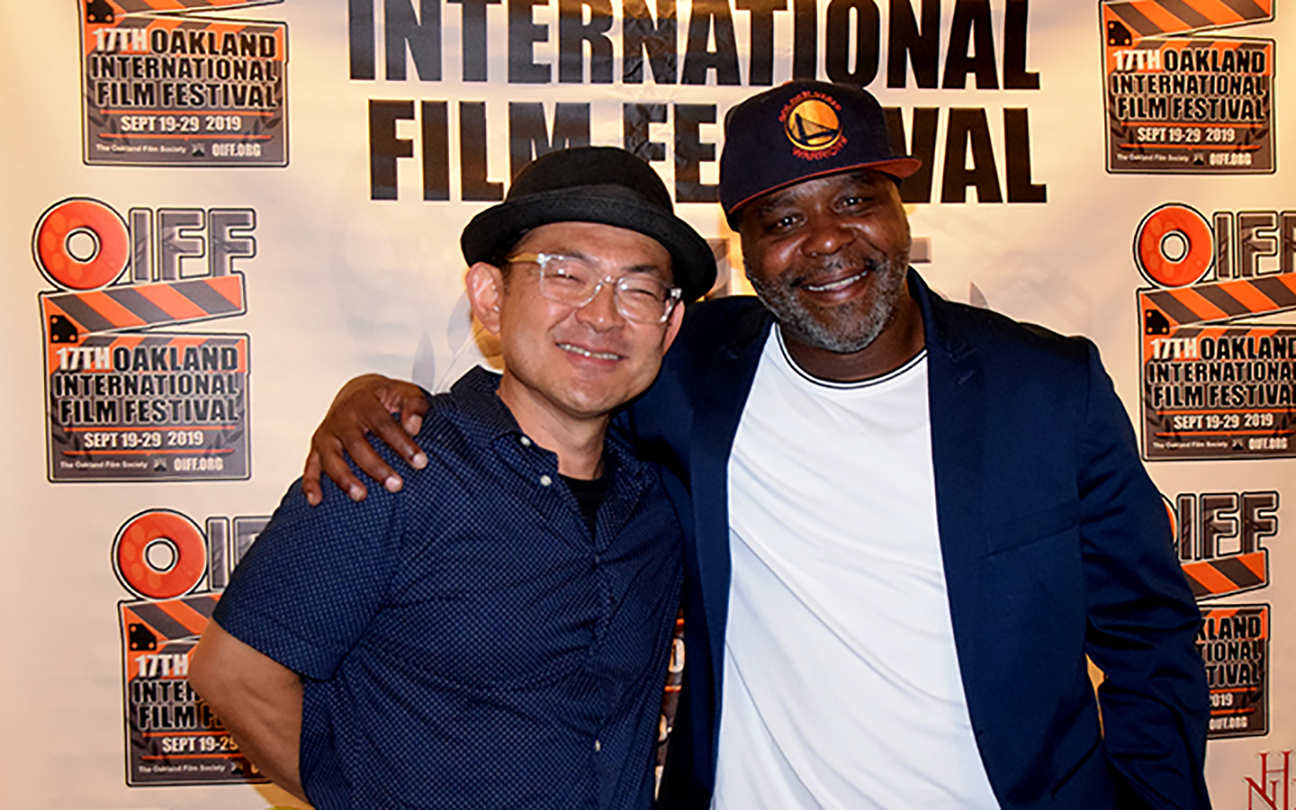 HNU professor Chico Sawada and guest at Oakland International Film Fest at Holy Names University