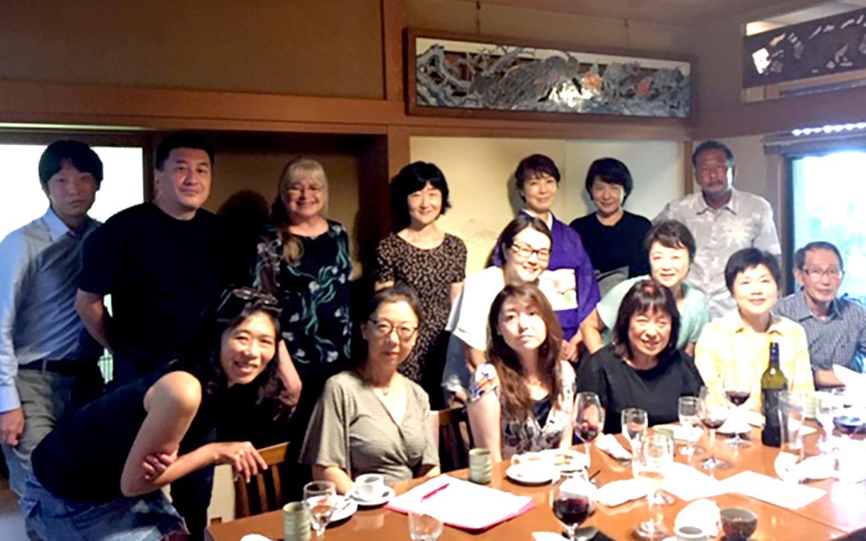 Holy Names University alumni together in Japan