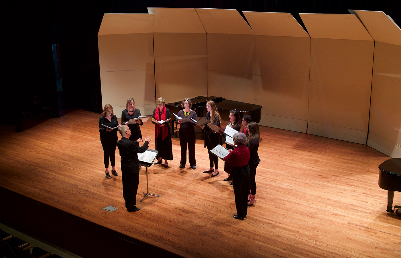 HNU vocal ensemble performing at the Regents' Theater at the Valley Center for the Performing Arts