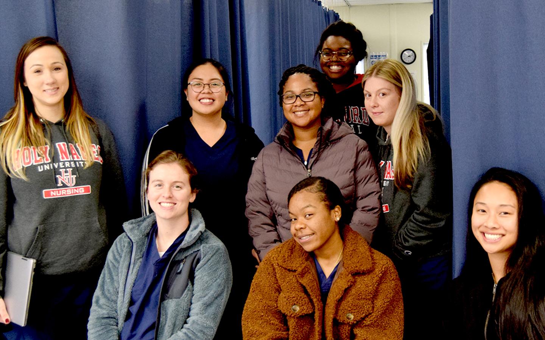 group of HNU nursing students pass national nursing exam