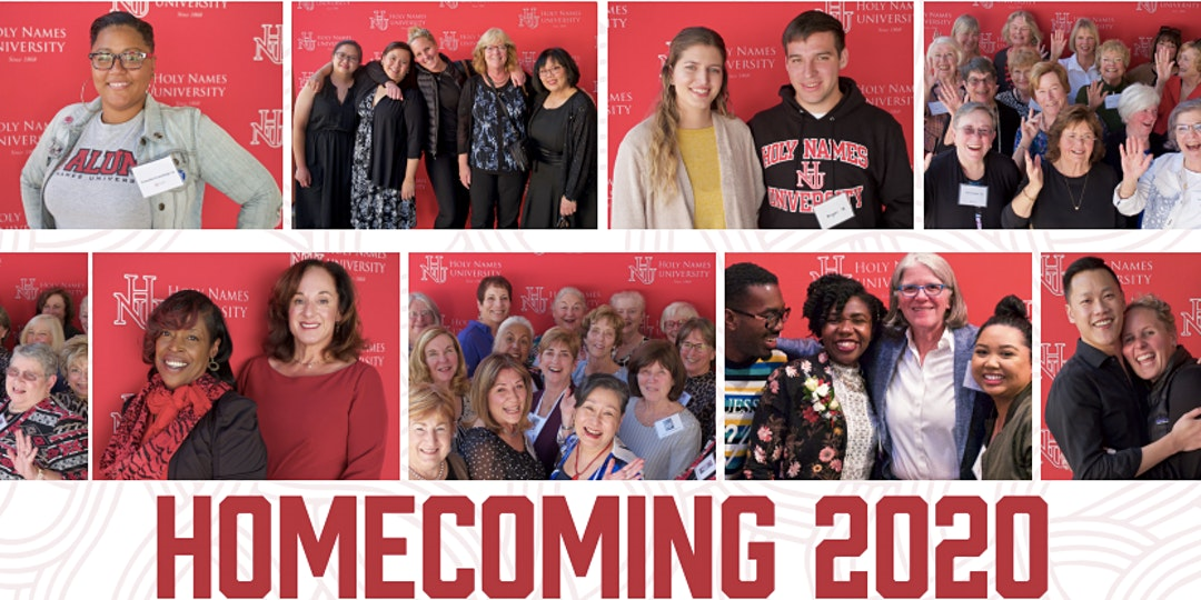 images from Holy Names University 2020 homecoming