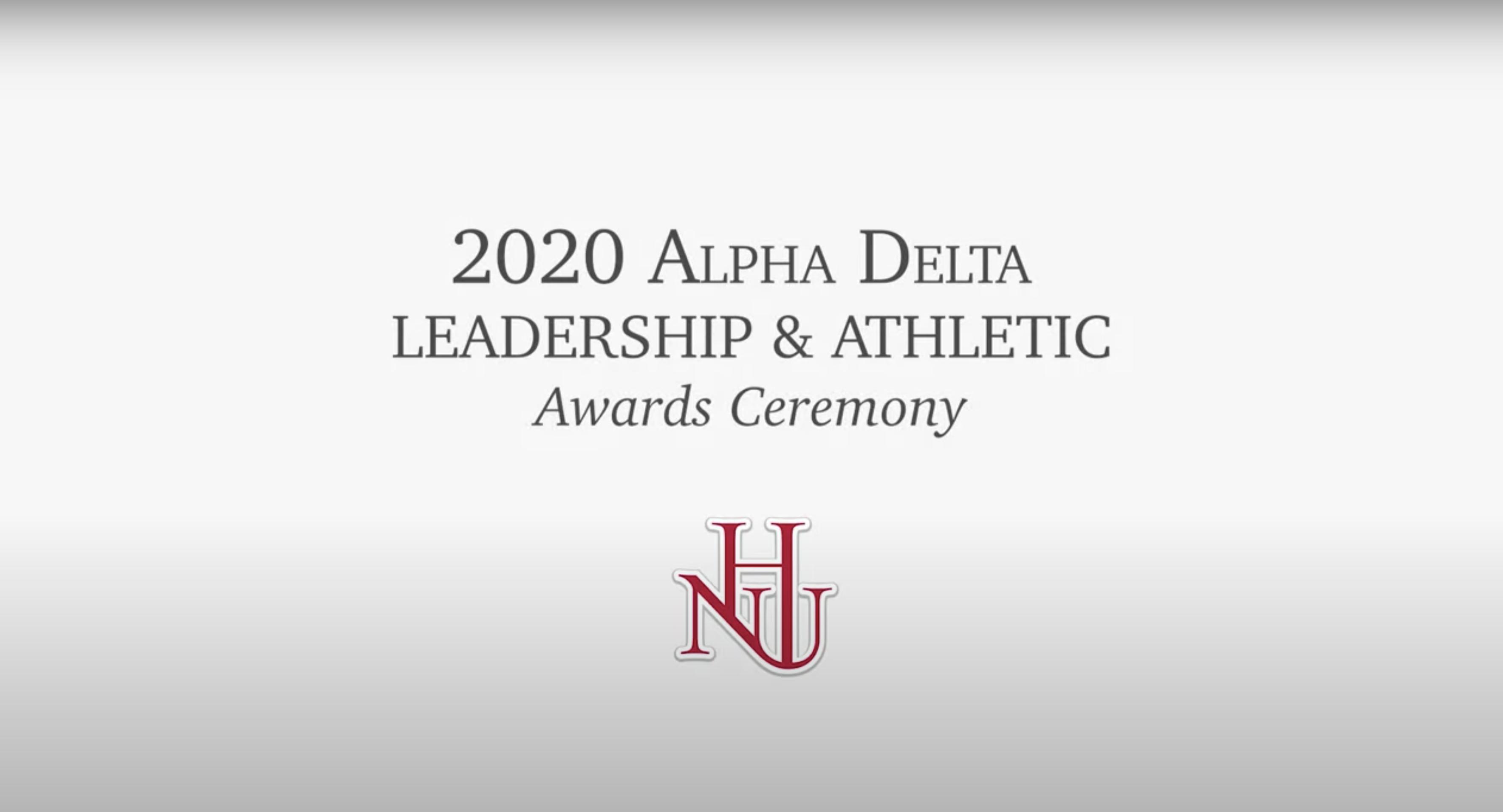 2020 Alpha Delta Leadership & Athletic Awards Ceremony