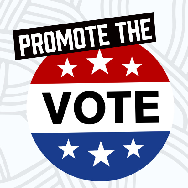 Promote the vote graphic