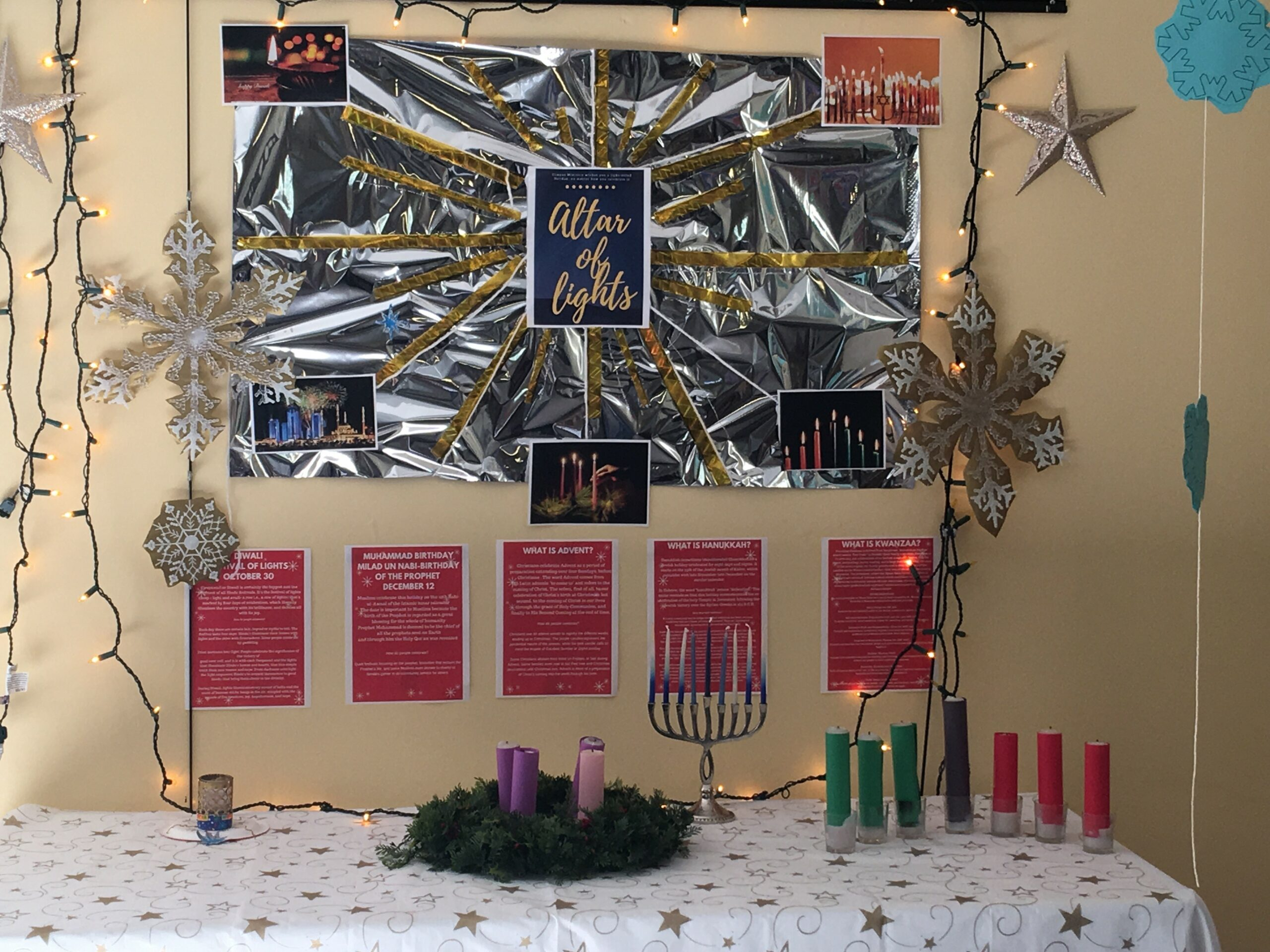 the season of lights decorations at HNU