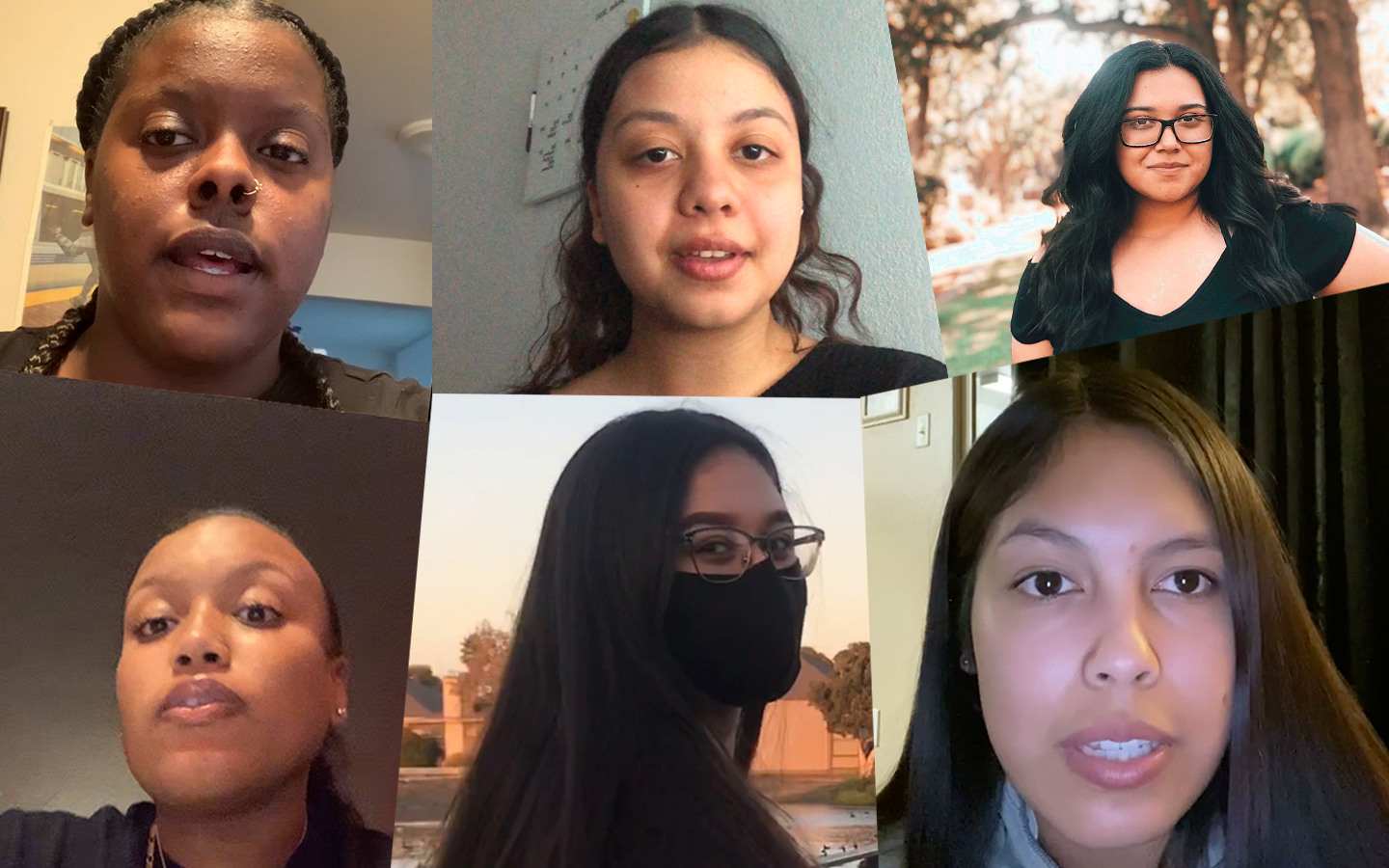 Collage of six Holy Names University students