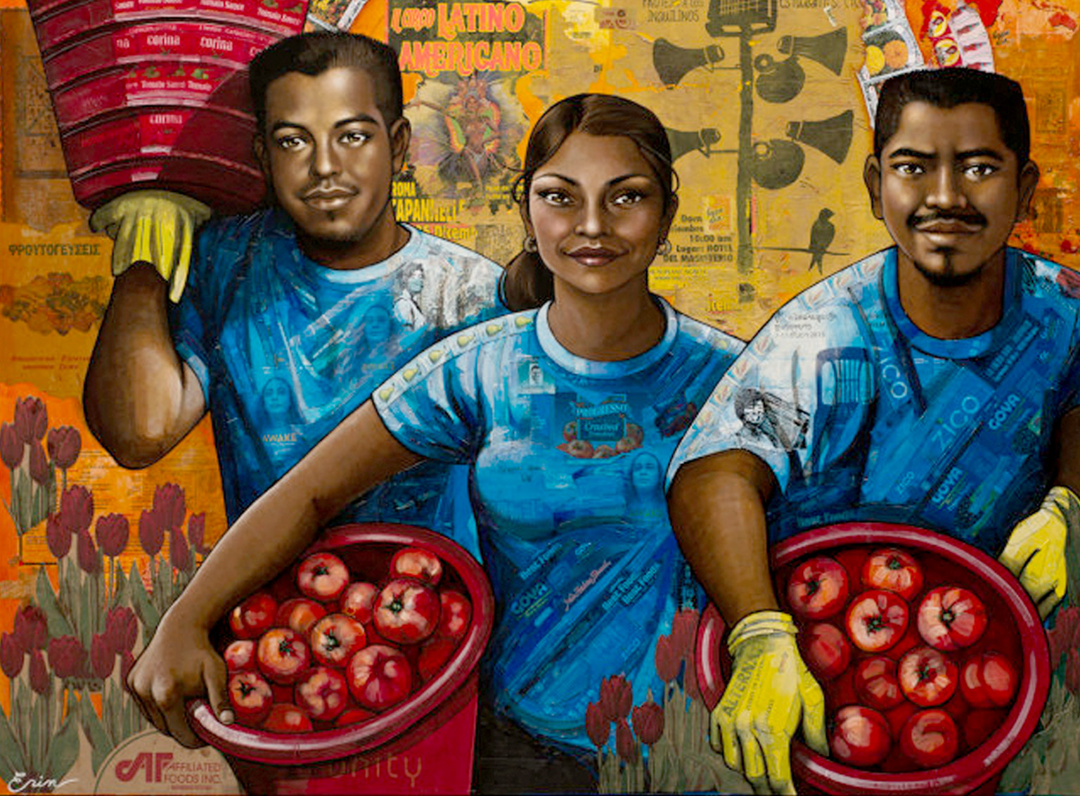The Harvesters Painting by Erin Currier