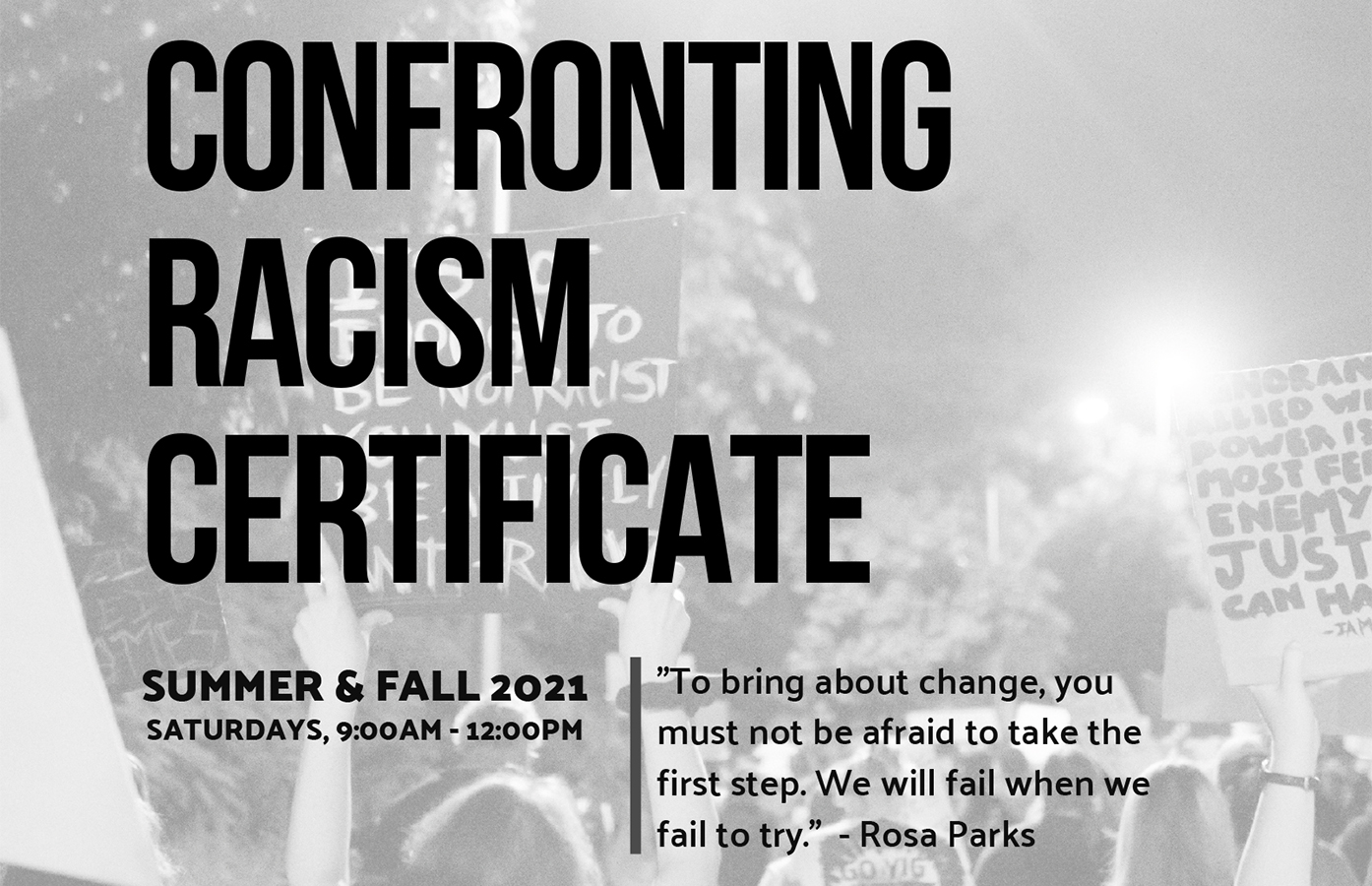 Confronting Racism Certificate